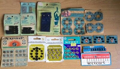 JOB LOT Vintage / Retro Snap, Fasteners and Hook & Eyes - All sizes