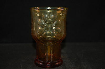 Libbey Country Garden Amber Daisy Juice Glass