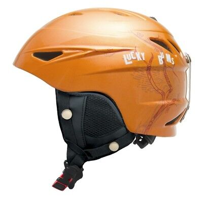 Lucky Bums Cherry Blossom Adults Ski Helmet, Orange - Head Size 52-55cm