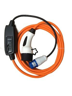 Commando / CEE to Type 2 EV charging cable, 16amp, 3.6kw, 5 meters and FREE CASE