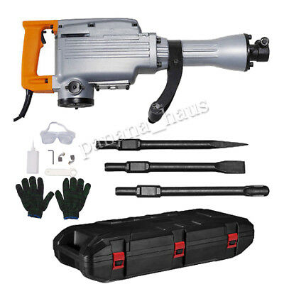 1500W Electric Jackhammer Demolition Hammer Drill Concrete Breaker Multipurpose