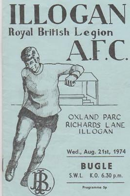 Illogan RBL v Bugle 1974-75 (First ever SWL game at Oxland Parc) (5-5)