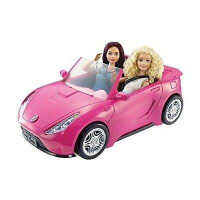 Barbie Glam Convertible Doll Vehicle Two Seater Pink Car Fun Kids Toy For Girls