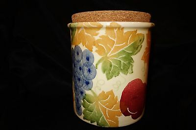 MADE IN ITALY-'CERAMICHE ALRA' Ceramic Jar with Cork Lid-Collectable for Kitchen