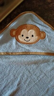 Monkey baby child hooded towel