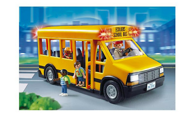 Playmobil 5940 School Bus with Flashing Lights! includes 3 School Children & Bus