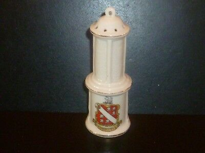 Carlton Crested China Miners Lamp. Crest of Wombwell (Barnsley Coal field)