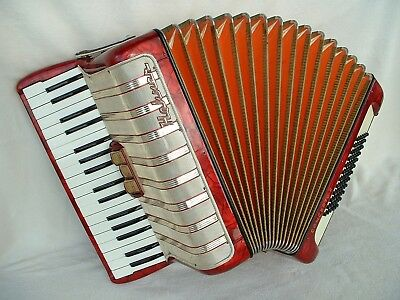 HOHNER CONCERTO II ViNTAGE W-GERMANY PiANO AKKORDEON ACCORDiON 72 BASS Аккордеон