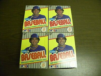 Lot of 4 1989 Fleer Baseball Complete Factory Sealed Wax Box Griffey Ripken