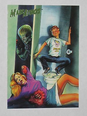 Topps Mars Attacks Trading Card 1994 Base Card NM #75 Flip Cover For Issue #4