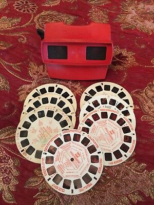 Vintage View Master With 7 Mixed Discs