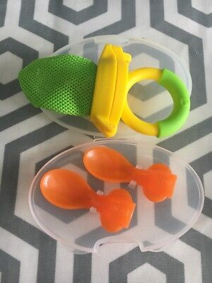Baby Weaning. Pouch Spoons. BLW Food Holder. Excellent Condition