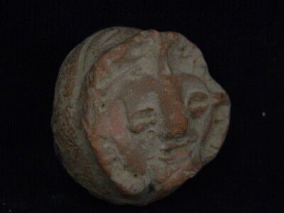 "Ancient Indus Valley Teracotta Figure Head C.2500 Bc  """"r1014"""""