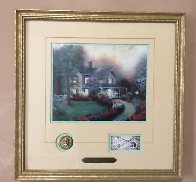 "Thomas Kinkade ""Home Is Where The Heart Is"" Framed Accent Print Certified"