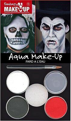 Aqua Make-Up Set Vampir Zombie Tod Schminke Horror Halloween