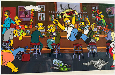 The Simpsons Happy Hour Limited Edition Sericel