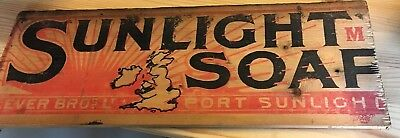 Advertising Vintage Wooden Panels From A Crate ? Port Sunlight