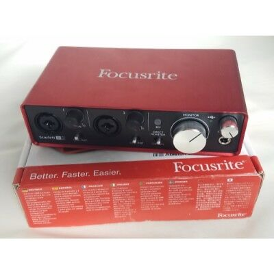 Focusrite Scarlett 2i2 USED G2 Pro Tools MKii 24/192 USB Interface B3
