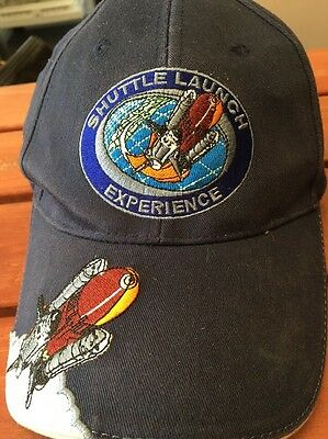 Nasa Kennedy Space Center Shuttle Launch Experience Blue Embroidery Hat Adult