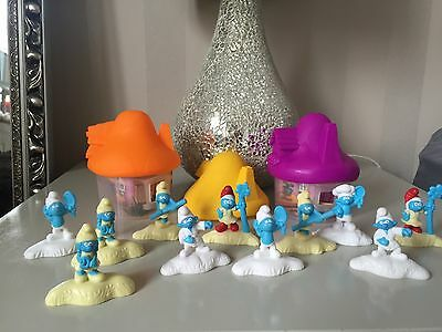 McDONALDS SMURFS THE LOST VILLAGE TOYS. 2017 14 piece set