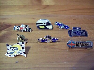 A Collection Of 8 F1 Badges Mansell Patrese Goodyear
