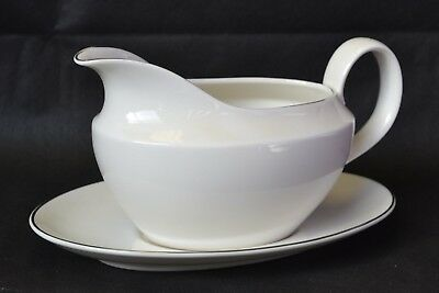Royal Doulton Fine China Inspiration Gravy Boat and Plate
