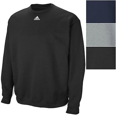 adidas Men's 9 oz Fleece Crew Sweatshirt Athletic Long Sleeve Pullover Shirt