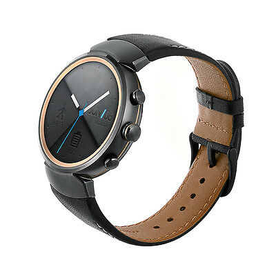 Balerion-Watch band for ASUS ZenWatch 3,Quick Release Genuine leather Black