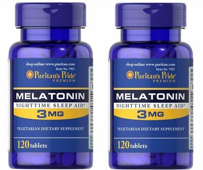 Melatonin 3MG X 240 tab Puritan's Pride Melatonina (2x120tab)