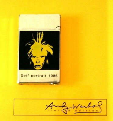 "S.T.DUPONT FEUERZEUG ""ANDY WARHOL Self-Portrait 1986"" LIMITED EDITION LIGHTER"