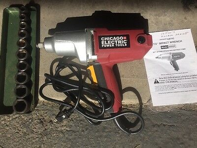 "Impact Wrench 1/2"" With Socket Set"