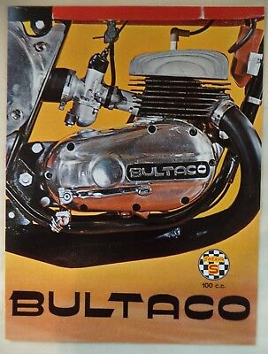 Vintage '70  Bultaco Sherpa S Factory Original Sales Brochure Moto-Cross