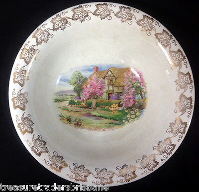 Lord Nelson Ware Elijah Cotton Ltd Fruit Bowl Country Cottage & Spring Blossom