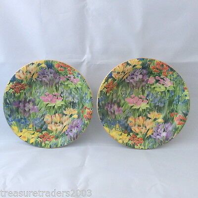 🌟2x BOWL DISH STUNNING ALLOVER CHINTZ LIKE A PAINTING FLORAL ENGLAND MAYFLOWER
