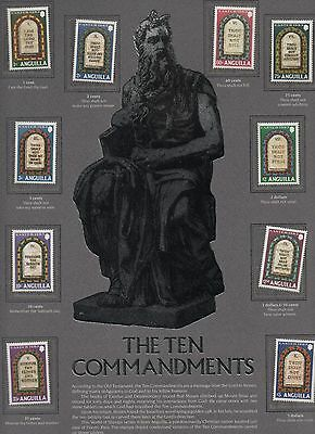 1983 Anguilla - The Ten Commandments - Complete Set of Ten Stamps
