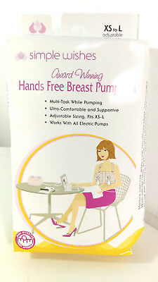 Simple Wishes Signature Hands Free Breastpump Bra Pink XS-L [EB69-HFR2]