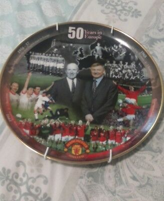 Manchester united danbury mint plate