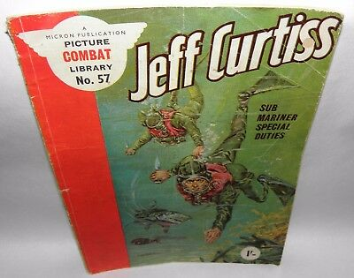 Jeff Curtiss, Picture Combat Library No'57, 1'. 1960's. Comic Book, PB