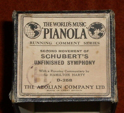 "Large Aeolian Audiographic ""running Comment"" Series Pianola Roll - D-258"