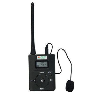 FM Transmitter Stereo Radio Broadcast Adjustable Frequency 60-108 MHz Portable