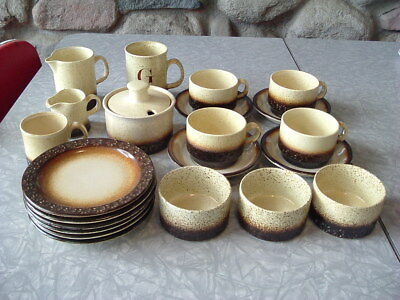 1970s Vintage Rye Iden Pottery - Cups Saucers Plates - Mugs - Jugs - Sugar Bowl