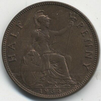 1934 George V Halfpenny***High Grade***Collectors***