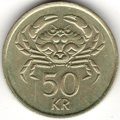 1987 Iceland 50 Kronur Coin***Collectors***