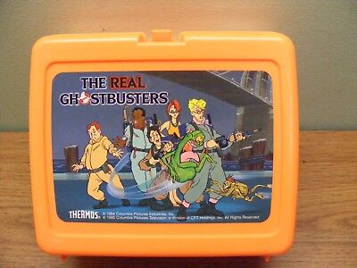 the real ghostbusters orange thermos lunchbox no thermos