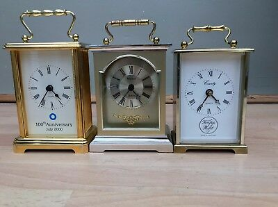 Vintage Working Carriage Clocks Minster County and 100th Anniversary July 2000