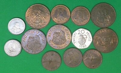 Selection Of Jersey & Guernsey Coins
