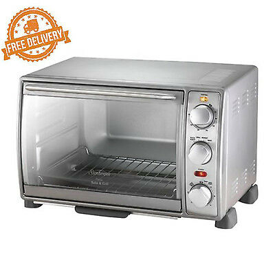 Electric Toaster Oven Compact Sunbeam Pizza Bake & Grill Multifunction Cooker
