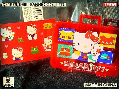 😺 SANRIO Hello KITTY VINTAGE 1996 TIMBRINI Stamp Set NEW COMPLETE with Stickers