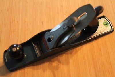 Vintage Stanley No.4 Hand Plane Blue Japanning Made In Canada