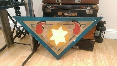 VINTAGE WOODEN HANDPAINTED 1930,s CIRCUS FAIRGROUND SIGN STUNNING VERY RARE ITEM